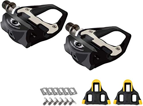 GORIX Bike Carbonfiber Pedals Cleat Set Binding Pedal Shimano SPD Compatible Road Bicycle(GX-R31)