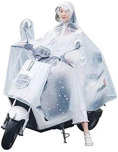 GUIYTQ5R Chubasquero Moto Coche eléctrico Claro Poncho, impermeable, a prueba de viento, poncho de plástico resistente al desgaste, utilizado for senderismo, camping, caza, la pesca y otras actividade