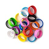Grifiti Band Joes 2 Inch 20 Pack Assorted Colors Posters, Magic, Broccoli, Wallet, Pen, Art, Cooking, Wrapping, Cord Wraps, Longer Lasting Silicone Rubber Bands Mini Small