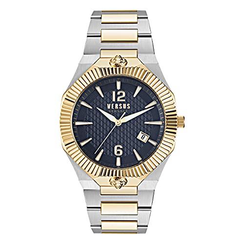 Versus Versace Herren Armbanduhr Echo Park, Farbe:Silber-goldfarben/blau