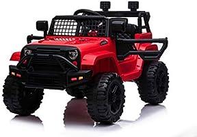 Indalchess Jeep Style Little Off Road 12V para NIÑOS hasta 4 AÑOS, Rojo, Mando Control Remoto Padres