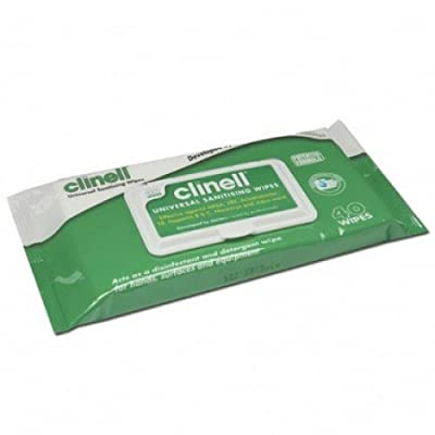 Clinell EA562 Universal Sanitising Wipes, Soft (Pack of 40) by Clinell