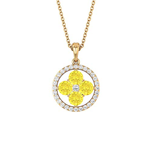 Rosec Jewels 14 quilates Oro amarillo Runde Diamond