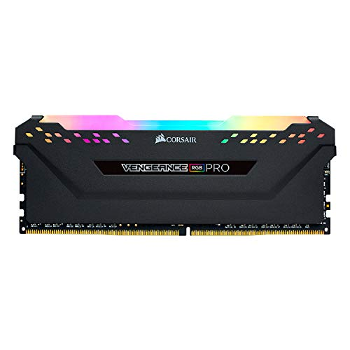 Corsair Vengeance RGB Pro 16GB (2x8GB) DDR4 3200 C16 Memoria optimizada para AMD - Negro