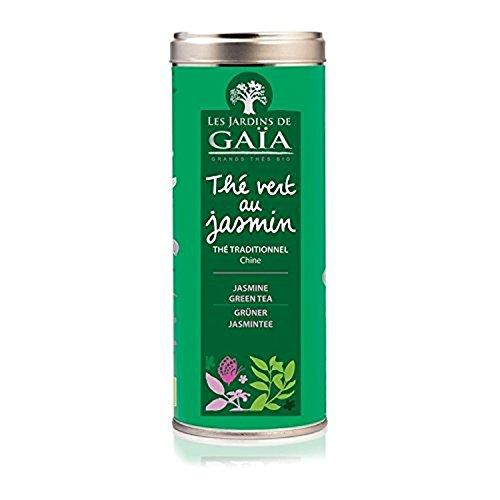 Jardins De GaÏa - JARDINS DE GAÏA - Thé vert au jasmin bio Tube 100 g - Thé Traditionnel (Chine)