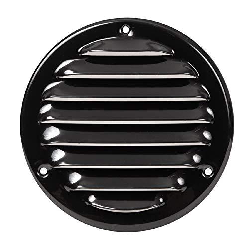 Ø 100mm Schwarz Lüftungsgitter mit Insektenschutz Rund Metall Gitter Außenmaß: 140mm