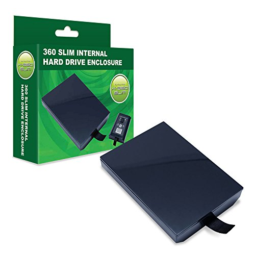 Hard Drive Disk Replacement Enclosure Case Shell for Xbox 360 Slim Hard Drive (Enclosure Only, Hard Drive NOT Included)