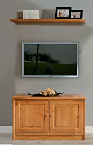 Arredamenti Rustici Meuble TV + étagère en pin Massif-Brut