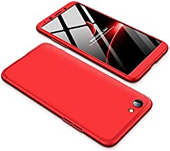 Case OPPO F7 Youth 360 Degrees protective Cover + tempered glass film High quality, 3 in1 Full Body protection Bumper hard phone Case Ultra-thin Skin Case,for OPPO F7 Youth (Black Red)