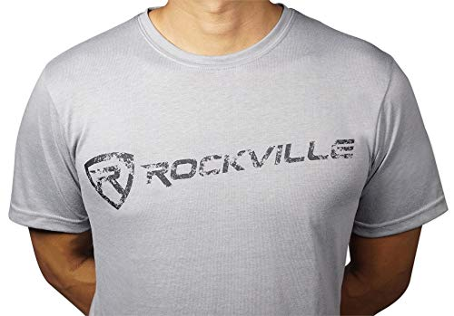 ROCKVILLE GREY FITTED T-SHIRT - SIZE-XXL - DRY-FIT 65% POLYESTER 및 35% 면