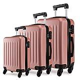 Kono Hartschale Kofferset Trolley Koffer Reisekoffer Taschen Gepäckset in S-L-XL-Set Nude