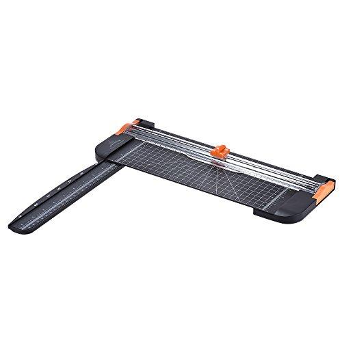 Aibecy 多機能 断裁機 A4用紙対応 引き出し式ルーラー付き ペーパーカッター ペーパートリマーカッター ギロチン 写真用紙 ラベル用 カッター 携帯型 ブラック