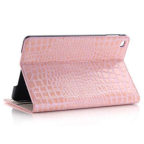 RZL PAD & TAB cases For iPad MINI 2 MINI 3 7.9'', Luxury Crocodile Case PU Leather Folio Stand Card Slot Luxury Case For iPad MINI 1 2 3 (Color : Mini 1 2 3 Pink)