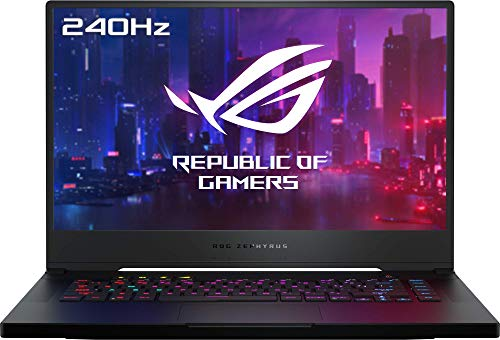 "ASUS ROG Zephyrus S GX502GW-AZ064T - Portátil Gaming de 15,6"" 240Hz Full HD (i7-9750H, 16GB RAM, 1TB SSD, GeForce RTX2070-8GB, Windows 10) Metal Negro - Teclado QWERTY español"