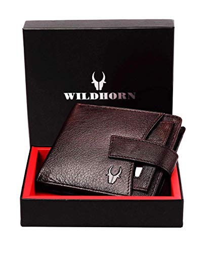 WildHorn® RFID Protected Genuine High Quality Leather Wallet for Men(Brown)…