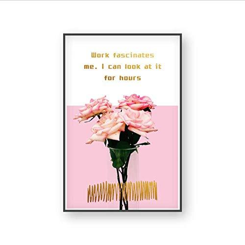 xwpox poster roze snoepjes canvas schilderij voor Moederdag party decoratie Scandinavische stijl landschap afbeelding modern voor woonkamer frameloos design 20x28inch(50x70cm) A