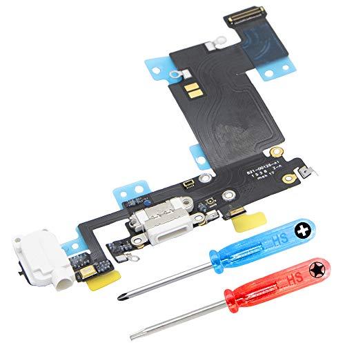 MMOBIEL Connettore Dock di Ricambio Compatibile con iPhone 6S Plus (Bianco) con Porta Caricamento e Cavo Flessibile Flex Inclusi cacciaviti