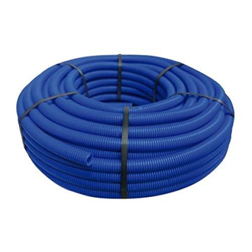 TUBO CORRUGADO AZUL 13MM 50 MTS. Tuberia corrugada con Certificado Aenor. Adecuado para la protección de tuberías de cobre, hierro y polietileno reticulado.
