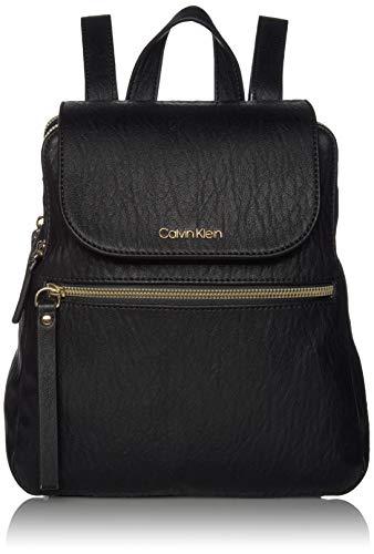Calvin Klein Elaine Bubble Lamb Novelty Key Item Flap Backpack, Black/Gold