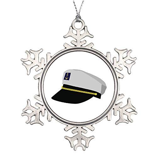 qidushop Weihnachtsschmuck, Weihnachtsbaumschmuck, Kapitänsmütze, Schneeflocke, Ornament, Basteln, Weihnachtsdekoration