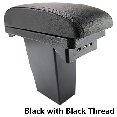 Reposabrazos de piel negra de doble capa para consola
