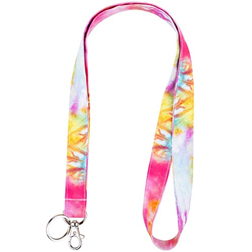 Celokiy Colorful Watercolor Fabric Lanyard for Keys,Card Holder - Women,Teen Girls,Teacher Lanyard - Neck Strap Keychain