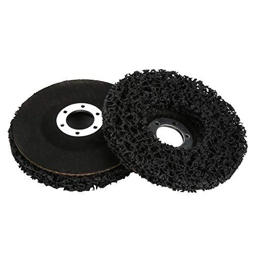 Poly Strip Wheel, 2Pcs 115mm Black Poly Strip Wheel Disco Herramienta de eliminación de óxido de pintura para amoladoras Angel, aluminio, cobre, plástico, productos de fibra, madera, piedra, hormigón,