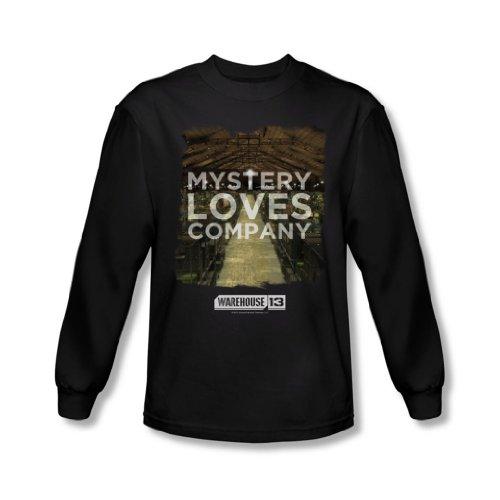 Warehouse 13 - Le Mystère des hommes aime shirt manches longues In Black, X-Large, Black