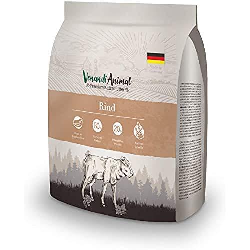 Venandi Animal Premium Trockenfutter für Katzen, Rind,getreidefrei mit viel frischem Fleisch, 300 g