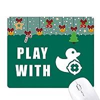 ダッククルーズ ゲーム用スライドゴムのマウスパッドクリスマス