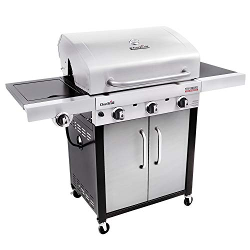 Char-Broil 463371719 Performance TRU-Infrared 3-Burner Cart Style Gas Grill, Stainless Steel Grills Propane