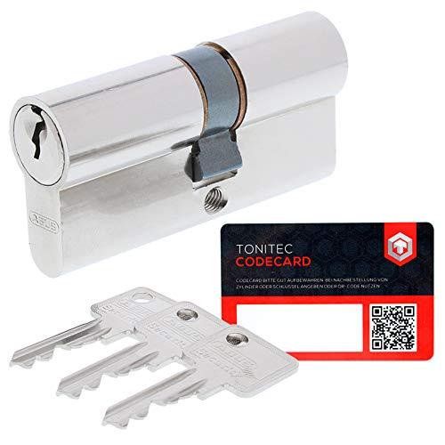 Abus Sicherheitsschloss Profilzylinder C73 gleichschliessend + 3 Schlüssel + ToniTec CodeCard 35 35