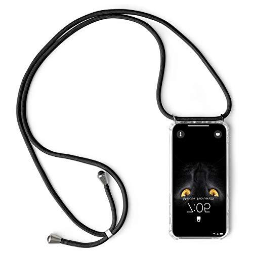 Oihxse Hülle ersatz für iPhone 8/7 Hülle,mit Kordel zum Umhängen -Transparent Silikon Handy Schutzhülle für iPhone 7/8,Crystal Clear Shell mit Schnur-Necklace Handyhülle-Vier Eckenschutz (3Q)