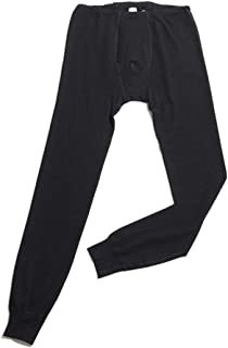 Hocosa of Switzerland Men's Long-Underwear Pants, Organic Wool-Silk, Black, size M