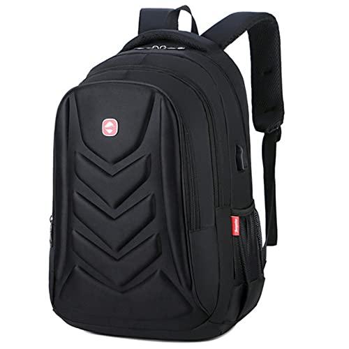 Mochilas impermeables para portátil de carga USB, bolsas de viaje de ocio masculino de gran capacidad, bolsa de libros escolares para estudiantes
