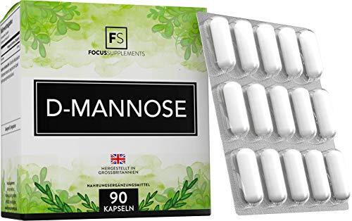 FS D Mannosio 500mg | 90 Vegane Capsule | Cranberry Integratori | Mirtillo Rosso Integratore | Non OGM, Senza Glutine e Latticini