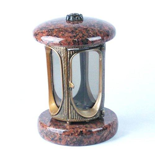 designgrab Alu Grablampe aus messingfarbenem Aluminium in Antikoptik in Granit Vanga