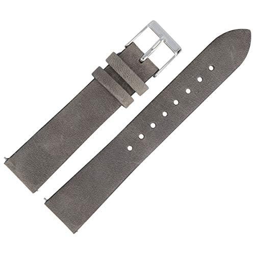 Liebeskind Berlin Uhrenarmband 18mm Leder Grau Glatt - B_LT-0158-LQ