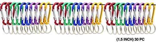 ZENDY Aluminium clé Gourde en Aluminium en Forme de Mousqueton à Verrouillage Porte-clés Porte-Mousqueton à Verrouillage 1,5 Pouce