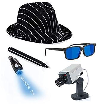 Detective Costume - Spy Gear for Kids - Dress Up - Spy Costume Accessories  4 Pc  Tigerdoe