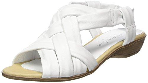 Andrea Conti Damen 1673429 Offene Sandalen, Weiß (Weiß), 37 EU