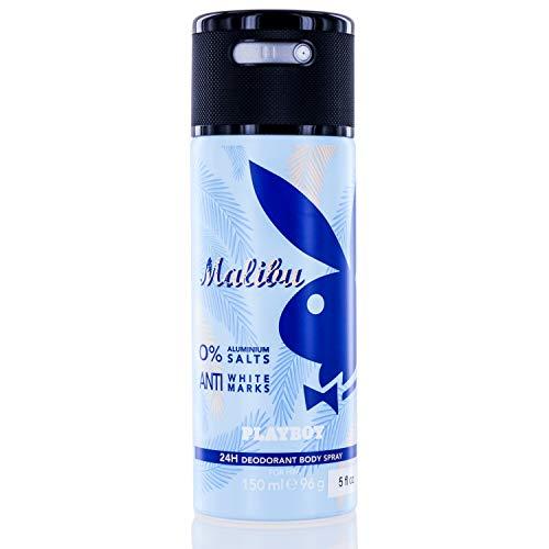 Malibu Playboy by Playboy 24H Deodorant Body Spray 5 oz / 150 ml (Men)