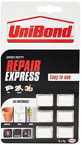 UniBond 2002387 30 g Express stucco epossidico per riparazioni, colore: bianco