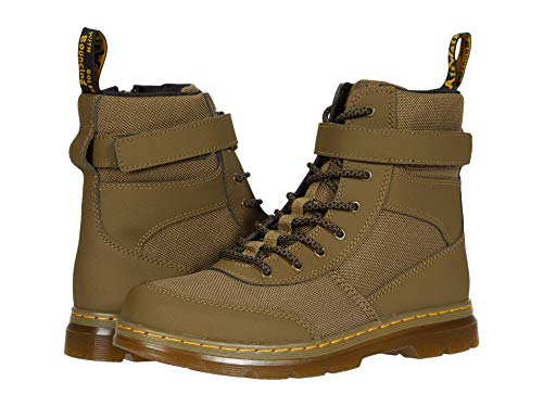 Dr. Martens Kid's Collection Combs Tech (Big Kid) DMS Olive Extra Tough Nylon+Ajax Non Woven E97 5 UK (US 6 Toddler) M
