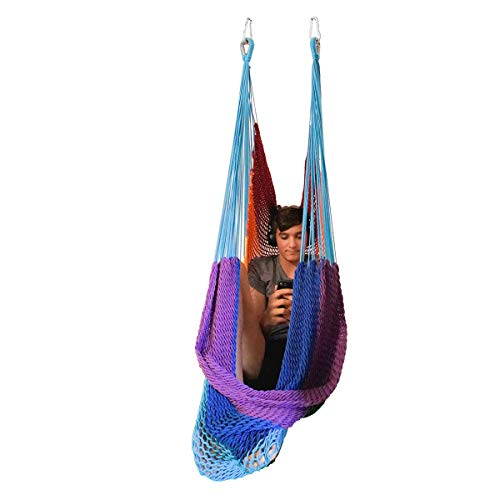 DreamGYM Therapy Net Swing | Sensory Swing for Adults and Children | Rainbow