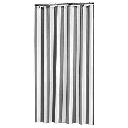 Sealskin Linje Douchegordijn, Polyester, Grijs, Wit, 180 x 200 Cm, 1.0 Unit
