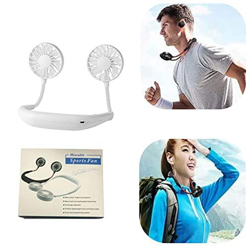 ZHiveA Wireless Neckband Mini Fan,Hand Free Personal Neckband Fan, Hand Free Mini USB Personal Fan (White)