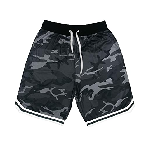 LDD Estate Camouflage Sport da Uomo Fitness Pantaloni a Cinque Punti Pantaloni da Basket Training Ball Shorts Casual Shorts Fitness Fitness