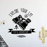 zqyjhkou Inspirierende Wandtattoo Entdecken Sie Ihr Leben Zitat Vinyl Wandaufkleber Woodland Style...