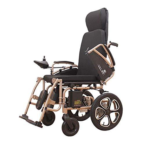 FHISD Can Lie Flat Electric Wheelchair Scooter portátil automático Inteligente Silla de Ruedas motorizada Plegable Potente Silla de Ruedas de Doble Motor para ancian